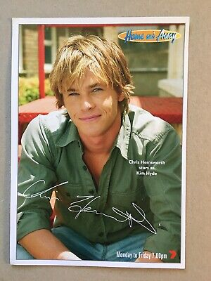 Tv Fan Card Home And Away Chris Hemsworth Free Postage