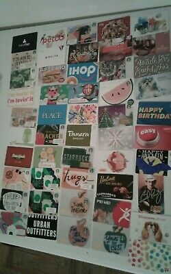 LOT of 200 Different Gift Cards, Great Way to Start Collection Collectible Mint