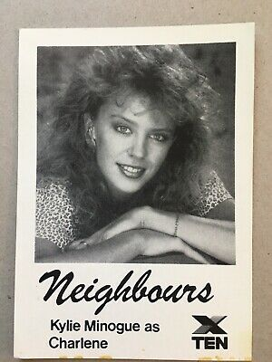 Tv Fan Card Neighbours Kylie Minogue Free Postage