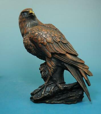 collection china folk old hand carving red copper eagle statue e02