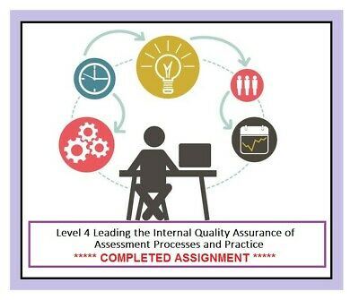 TAQA Level 4 Leading Internal Quality Assurance completed assignment answer IQA