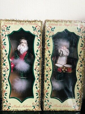 2 X Vintage BNIB Mark Roberts Christmas Santa Fairy/Elf Ornaments/Figures