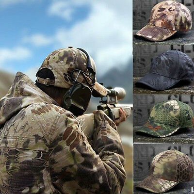 Men Camo camouflage hat adjustable hunting fishing military baseball cap iv