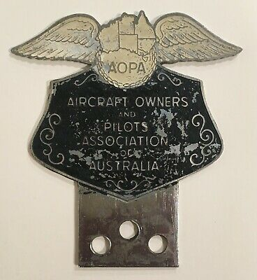 Vintage Metal - Aircraft Owners and Pilots Association Of Australia Badge