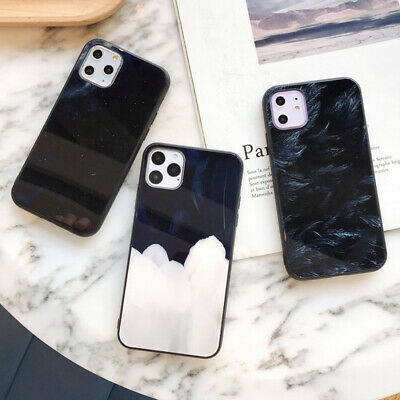 Feather Tempered Glass Back Hard Case Cover For iPhone 11 Pro Max XS XR X 8 7 6+