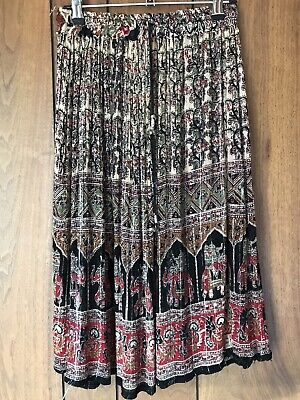 Vintage Boho Indian Gauze Knee Length Skirt