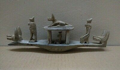 RARE ANCIENT EGYPTIAN HORUS & ANUBIS After Life Boat 1658-1455 BC