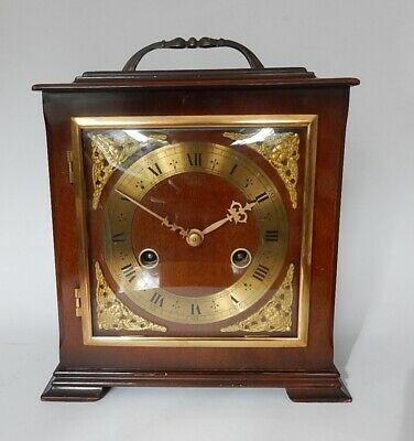 Superb Smiths Enfield Mahogany Striking Mantel clock working 3019