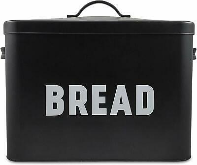 Metal Bread Box - Countertop Space-Saving, Extra Large, High Capacity Bread Stor