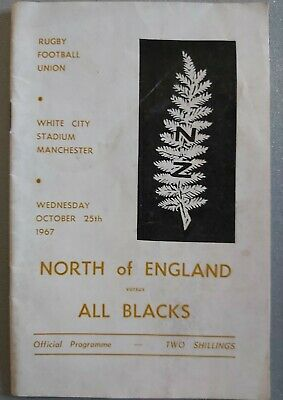 NORTH OF ENGLAND v NEW ZEALAND ALL BLACKS 25th Oct 1967 MANCHESTER RUGBY PROG