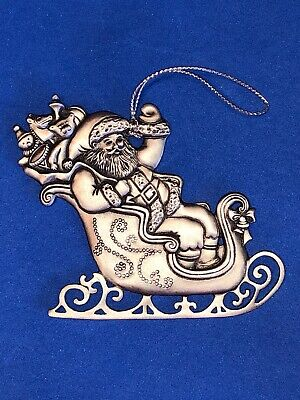 "Vintage 1995 Avon "" Saint Nicholas "" Pewter Collectible Christmas Ornament"