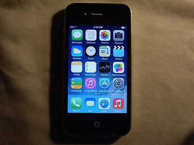 Black Apple iPhone 4 8GB Verizon, Straight Talk, Page Plus, TracFone, others  c5