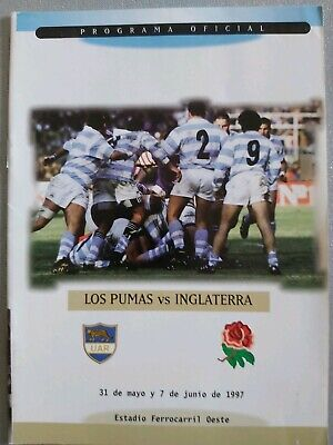 Argentina England 1997 Rugby Programme