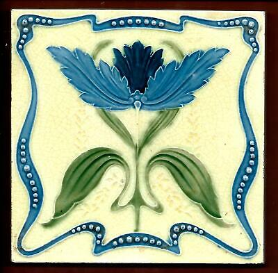 Antique Richards Art Nouveau Tile C1905