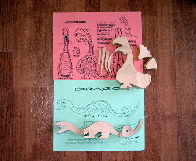 Dragon Wood Carving Blanks, Cut-outs, Cutouts, w/patterns, Caricature, Basswood