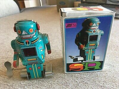 space toys new, Wind up Spark Robot with box. Made in China.