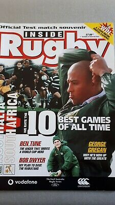 AUSTRALIA v SOUTH AFRICA 29th July 2000 OFFICIAL RUGBY PROGRAMME