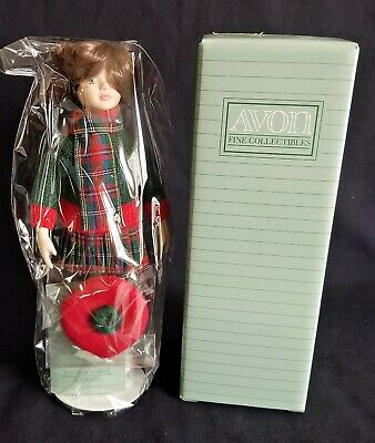 "NEW in BOX Avon 1991 ""SKATING PARTY"" CHILDHOOD DREAMS Porcelain Doll Sealed"
