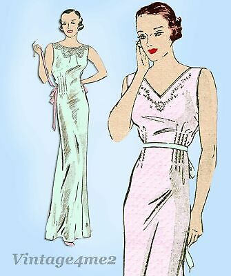 Butterick 6535: 1930s Misses Embroidered Nightgown 36 B Vintage Sewing Pattern