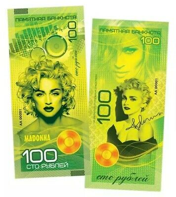 Madonna Banknote Russian Collectable Note Numbered Edition New Singer 2019