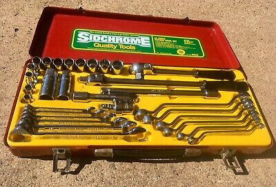 Vintage Sidchrome 31 Piece Metric Tool Kit 10236 Made In Australia 8 To 19mm