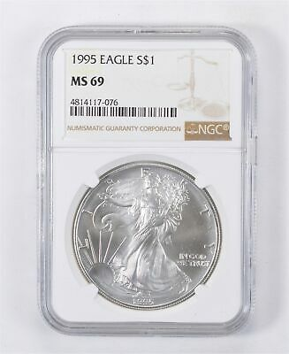 MS69 1995 American Silver Eagle - Graded NGC *159
