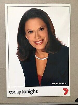 Tv Fan Card Channel 7 Today Tonight Naomi Robson Free Postage