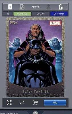 2019 2019 MIGHTY MASKS BLACK PANTHERS + STAR-LORD Topps Marvel Collect Digital