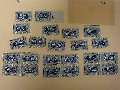 UNUSED - THREE SETS Atoms for Peace + Individuals, 3 Cent US Postage Stamps (L1)