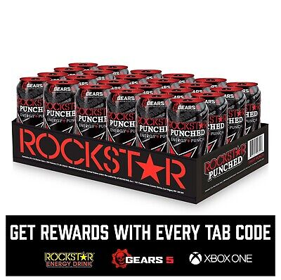 ( 24 Cans) Rockstar Punched Energy Drink, 16 Fl oz ON SALE!