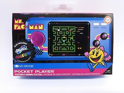 My Arcade Ms. Pac-Man Pocket Player Portable w/ 3 Games Ms Pac-Man Sky Kid Mappy
