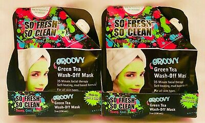 So Fresh So Clean 5 Oz Groovy Green Tea Him Or Her 15 Min Wash Off Mask Lot of 2