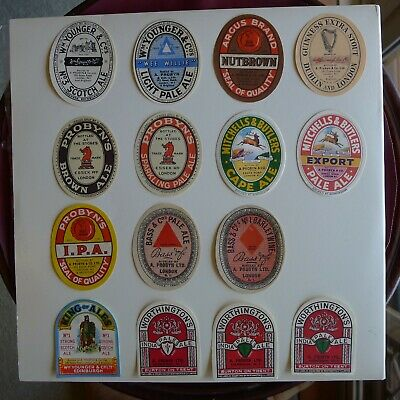 VINTAGE ENGLISH BEER LABELS - Circa 1950's Set of 15