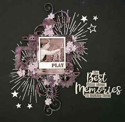 "Handmade Mixed Media 12"" x 12"" Scrapbook Page - The best thing about Memories..."
