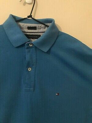 Mens Tommy Hilfiger Blue Polo Size Large