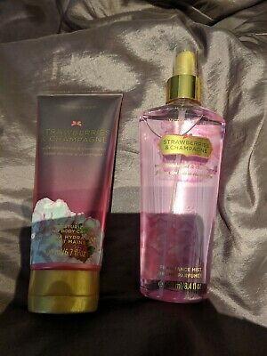 Victoria's Secret Strawberries And Champagne Fragrance Mist & Body Cream lotion
