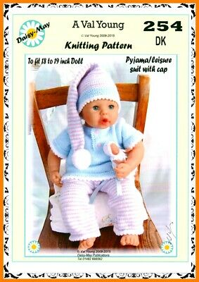 """Dolls knitting pattern by VAL YOUNG for Annabel  No.317 new Nov 2015 18/""""//19/""""DOLL"""