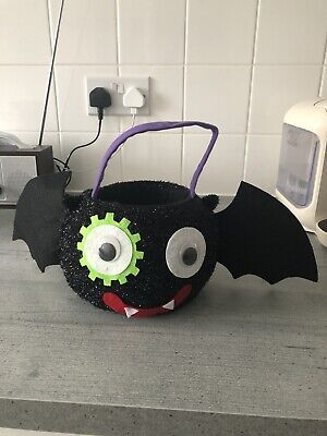 Halloween Sparkly Bat Trick Or Treat Basket