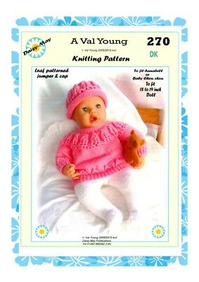 "DOLLS KNITTING PATTERN ** 288** for a 11/""//12/"" doll A Val Young pattern"