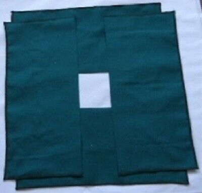 Set Of Four Lacemakers Green Working/Cover Cloths.   Adjust To Working Area Size