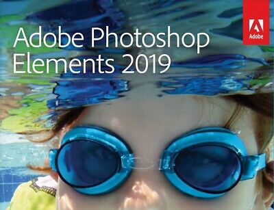 Adobe Photoshop Elements 2019 - Windows PC / Mac - Boxed - FULL RETAIL DVD