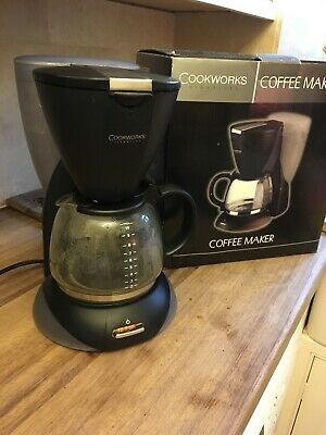 Cookworks Filter Coffee Maker Black Auto Switch Off