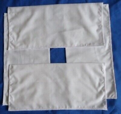 Set Of Four Lacemakers White Working/Cover Cloths.   Adjust To Working Area Size