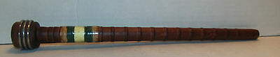 """10-1/8"""" Industrial Wooden Quill Spool W/ Metal Band Sewing Bobbin"""