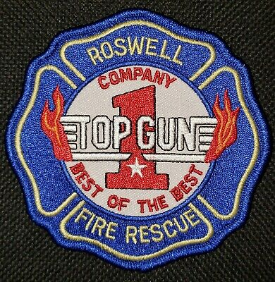 """Georgia - Roswell Fire Rescue Company One Patch """"TOP GUN"""" Best of the Best GA"""