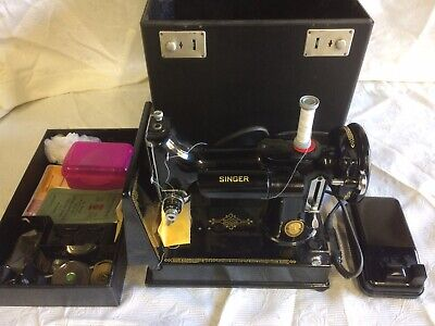 Singer Sewing Machine 1951 221k Featherweight Portable Case Fully Working