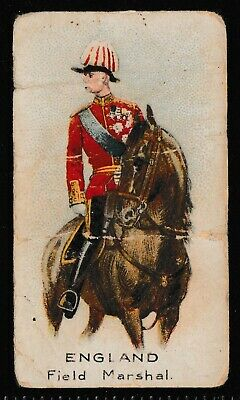 """BAT Cigarette Cards """"Soldiers of the World"""" 1904 """"England Field Marshall"""""""