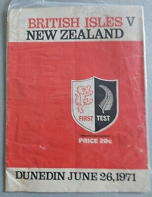 New Zealand v British & Irish Lions, 26th June 1971 - 1st Test Match Programme.