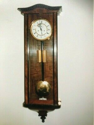 Vienna Regulator Twin Weight Driven Wall Clock.  Circa 1870 Good condition.
