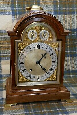 Antique Oak Ting Tang Bracket Mantel Clock. Winterhalder & Hoffmeier